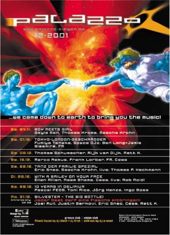 Flyer Monatsprogramm Dezember 2001
