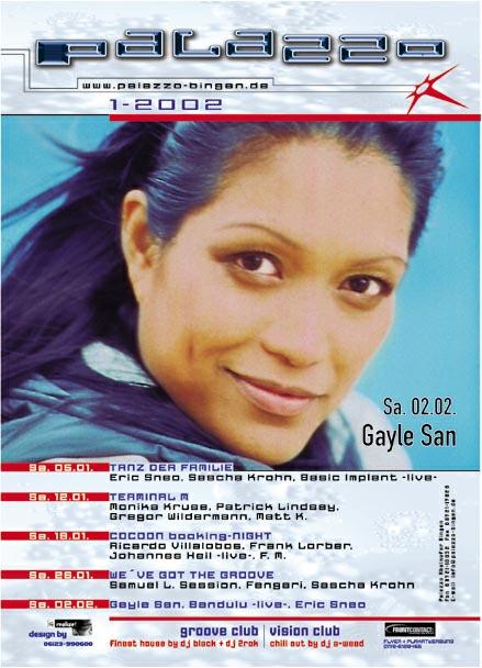 Flyer Monatsprogramm Januar 2002