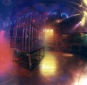 Leeransicht mit dem berühmten Käfig auf der Tanzfläche