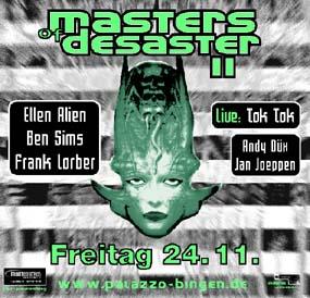 "Flyer ""Masters of Desaster 24.11.01"" - ""Masters of Desaster"" war das clubeigene Plattenlabel"