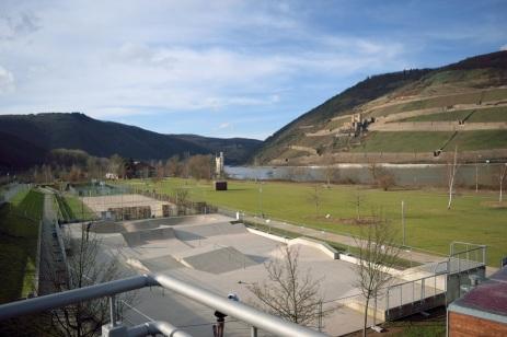 LGS auf Bingerbrücker Seite, Blick Richtung Trechtingshausen