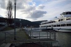"""Hinter der alten Stadthalle mit Passagierschiff """"Germania"""""""
