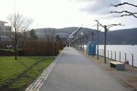 Kurz vor der Binger Rheinfähre